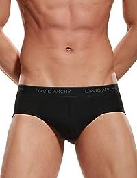 David Archy Men's 4 Pack Bamboo Fibre Light Weight Pouch Briefs