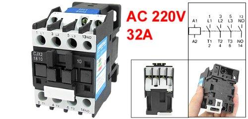 cjx2 1810 ac contactor 660v 32 amp 3 phase 3 pole no 220v 50 60hz rh saudi desertcart com Contactor Relay Wiring Diagram Contactor Relay Wiring Diagram