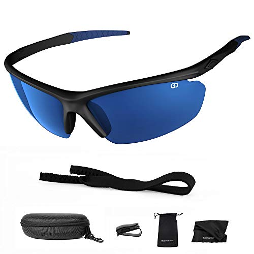 Polarized UV400 Sport Sunglasses Anti-Fog Ideal for Driving or Sports Activity (Black