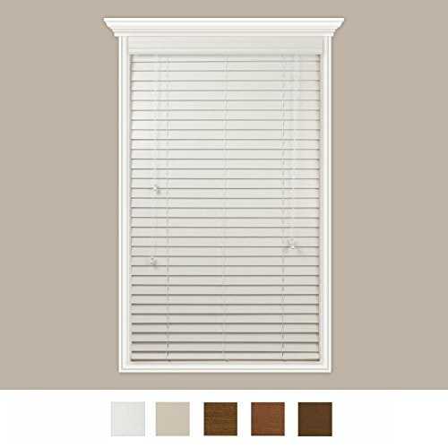 Custom-Made Real Wood Horizontal Window Blinds With Easy Inside Mount - 27