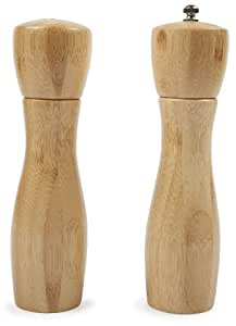 Core Bamboo 8-Inch Hourglass Bamboo Salt and Pepper Mill Set