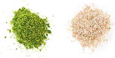 dailymall 明るい黄色の緑/ローズ赤い葉模様ミニツリーDIYのための風景素材 - タイプ1