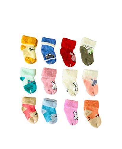 Freshfoot Organic Cotton Ankle Socks For New Born Baby for 0-12 Months (6 pairs)