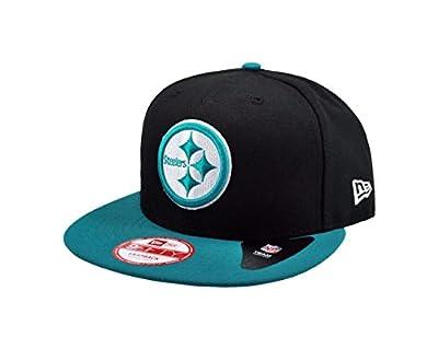New Era 9Fifty Hat NFL Pittsburgh Steelers 2Tones Basic Black/Aqua Snapback Cap