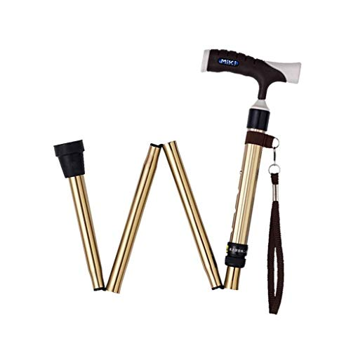 KXBYMX Walking Stick Telescopic Old Walking Stick Adjustable Maple Handle Walking Stick Aluminum Folding Skid Crutch (Color : C)
