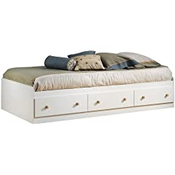 South Shore Summertime Mates Bed with 3 Drawers, Twin 39-inch, Pure White
