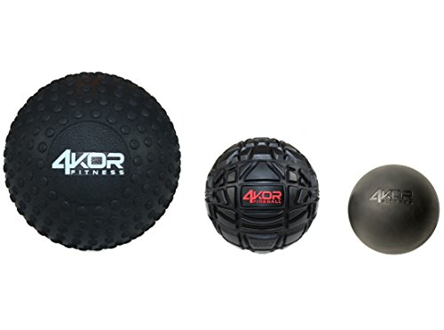 4KOR Fitness Massage Balls for Deep Tissue Muscle Recovery, Perfect for Myofascial Release and Trigger Point Therapy (5