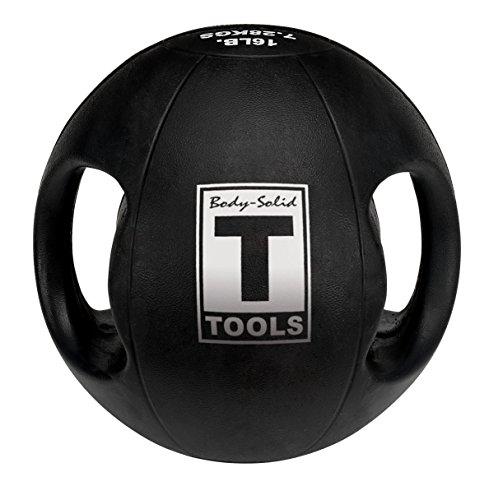Body-Solid Tools BSTDMB12 12-Pound Dual Grip Medicine Ball