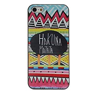 DUR HAKUNA MATATA Coloured Drawing Pattern Black Frame PC Hard Case for iPhone 5/5S