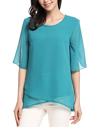 Meaneor Womens Casual Chiffon T shirt product image