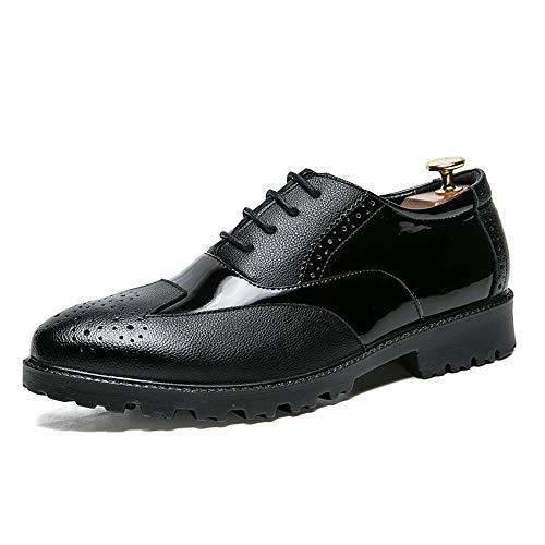 Noir 42 EU CHENDX Chaussures, Style décontracté Chaussures à la Mode pour Hommes de Style Britannique à la Coupe Basse Oxford décontractées pour Hommes (Couleur   Noir, Taille   42 EU)