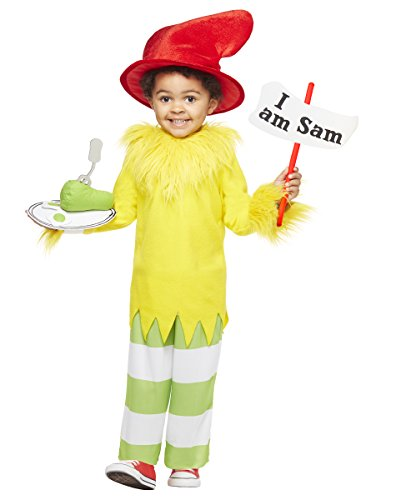 Egg Costume Women (Spirit Halloween Toddler Sam I Am Costume - Dr. Seuss)