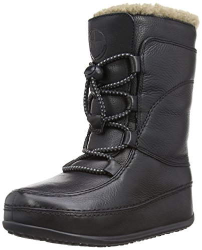 uk Moc Lace Up Leather Boot,All Black,7 M US ()