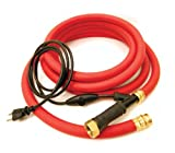 K&H Pet Products Thermo-Hose Ice Free Heated Water Hose Rubber Red 60' 250W