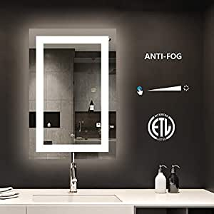 Amazon Com Smartrun Bathroom Led Lighted Backlit Mirror