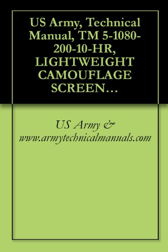 Transparent Antique (US Army, Technical Manual, TM 5-1080-200-10-HR, LIGHTWEIGHT CAMOUFLAGE SCREEN SYSTEMS: WOODLAND, RADAR SCATTERI TYPE II (NSN 1080-00-103-1246); WOODLAND, ... TYPE III (1080-00-266-1824); DESERT SCAT)