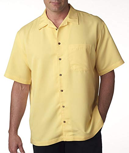 Ultraclub Mens Cabana Breeze Camp Shirt 8980 -Banana 4XL