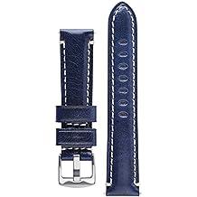 Signature Pilot Blue 20 mm Calfskin Watch Band Calf Leather Watch Strap Replacement Bracelet