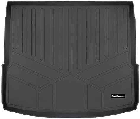 SMARTLINER All Weather Custom Fit Cargo Trunk Liner Floor Mat Black Compatible with 2018-2021 Audi Q5 / SQ5 (Only Fits Non-Hybrid Models)