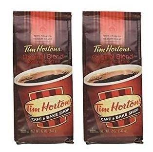 Tim Hortons 100% Arabica Medium Roast Original Blend Ground Coffee, 12 Ounce (2 Pack)