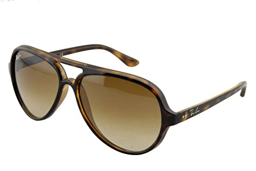 - Ray-Ban RB4125 Cats 5000 Aviator Sunglasses, Light Tortoise/Brown Gradient, 59 mm