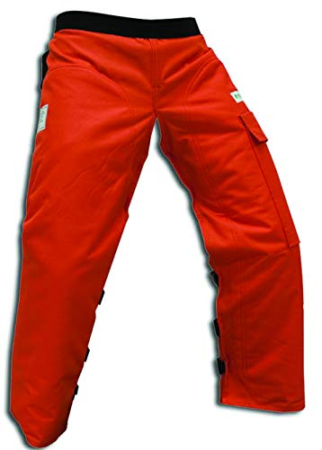 Forester Chainsaw Apron Chaps with Pocket, Orange 36