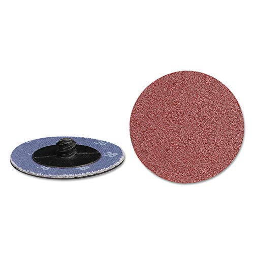 Aluminum Oxide Quick Change 2-Ply Discs 630 Pack 80 Grit 2 in Dia