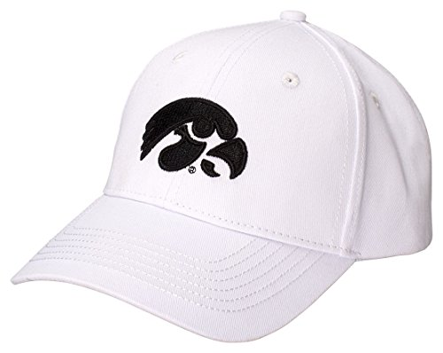 White Structured Adjustable Hat - Ouray Sportswear NCAA Iowa Hawkeyes Structured Epic Cap, Adjustable Size, White