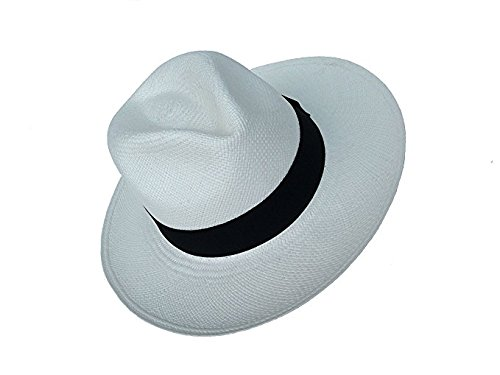 (Genuine Montecristi Panama Hat Made in Ecuador (57 (Medium), White))