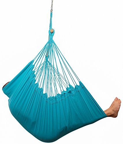 XXL Hammock Chair Swing by Hammock Sky - For Patio, Porch, Bedroom, Backyard, Indoor or Outdoor - Includes Hanging Hardware and Drink Holder (Limpet Shell) (Comfy Deck Chairs)