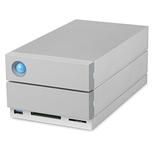 LaCie 2Big Dock 8TB RAID Thunderbolt 3 7200RPM External Hard Drive + 1mo Adobe CC All Apps (STGB8000400)