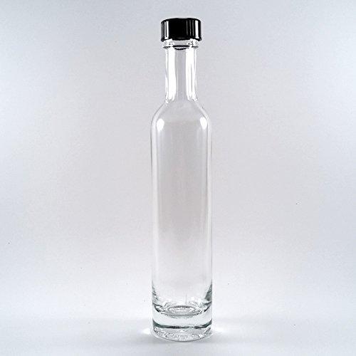 3.5 Ounce Clear Bottles (Deluxe Italian Clear Glass Bottles, 100ml (3.5 Fl Oz) - Case of 12)
