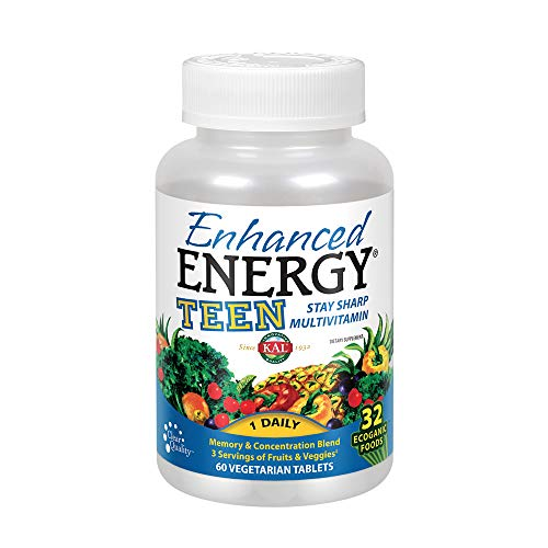 Kal Enhanced Energy for Teens Tablets, 60 Count
