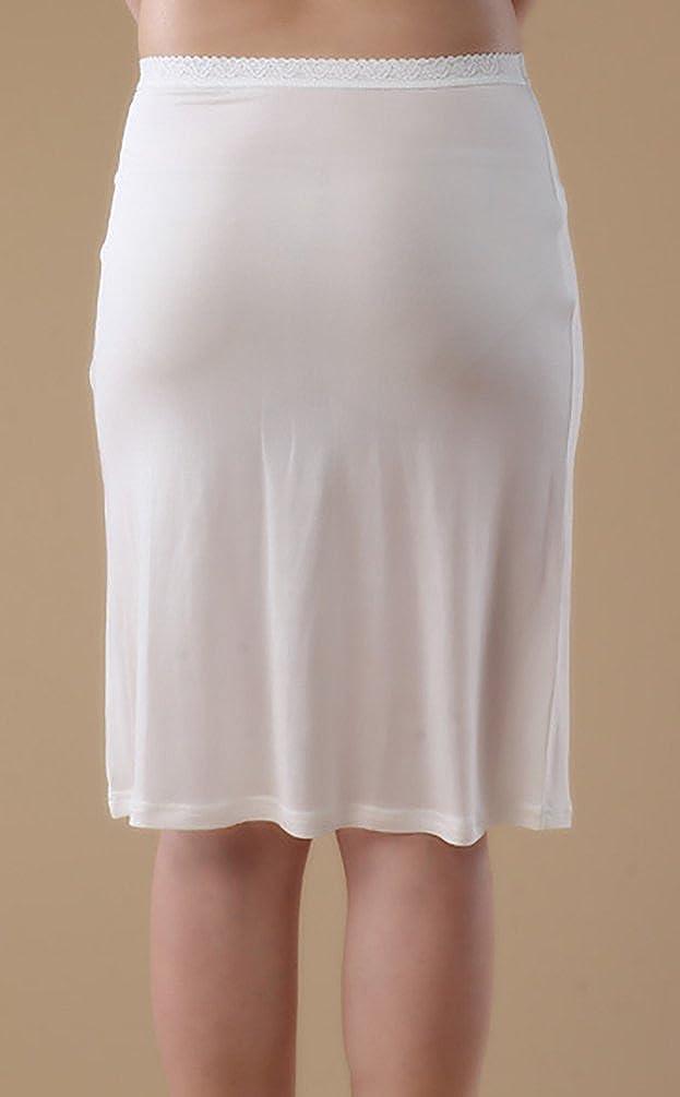 19508c8b0b9cc7 Baymate Femme Mince Jupe Tricotage Dentelle Slip avec Taille élastiquée  Stretch Fit Jupon