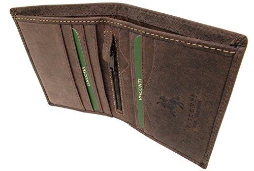 Arrow Leather Brown Arrow Visconti 705 Oil Wallet Leather Hunter Visconti Wallet 705 Hunter rfid 7FvTt