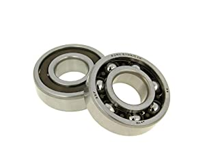 High rev bearing sets from Malossi up to high-end tuned Minarelli engines. Half-open polyamide cage prevents overheating. Dimensions: 20x47x14mm Ball bearing shaft set comprising 2 ball bearing sets. for MINARELLI horizontal /vertical 2-stroke AC/LC ...