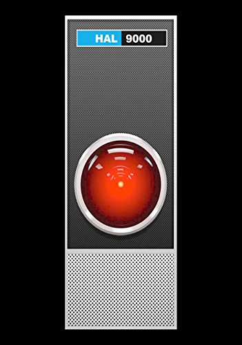 Wall-Color 9 x 12 METAL SIGN - 1968 HAL 9000 of 2001 Space Odyssey - Vintage Look Reproduction