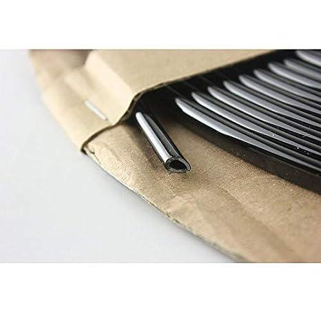 OtoLiman Steel Black Rubber Car Door Edge Scratch Guard Trim Molding Protector Cover Full Size 5m 16feet U Shape Air Vent Edge Decoration