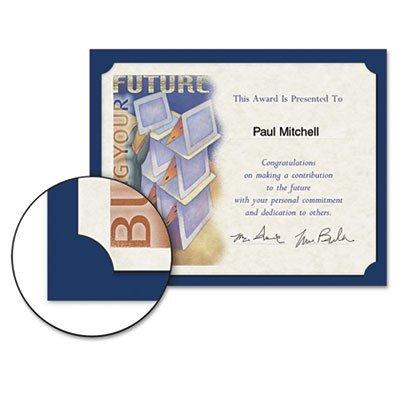 Certificate Holder, 12 x 9-1/2, Navy, Linen, 105 lbs., 10/Pack, Sold as 10 Each ()