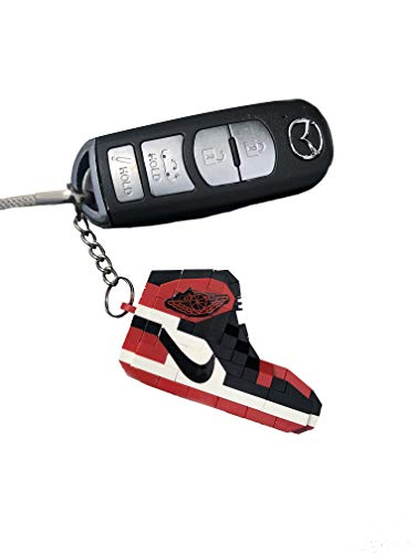 ArellanoKicks Sneakerhead Retro Air Jordan Building Block Key Chain Set (Bred Toe)