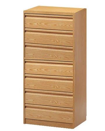 Cajonera para armario en 7 cajones Montada, dimensiones (80 ancho x 50 fondo x 122,7 de altura), color Blanco