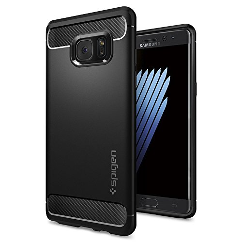 Galaxy Note 7 Case, Spigen® [Rugged Armor] Resilient [Black] Ultimate protection from drops and impacts for...