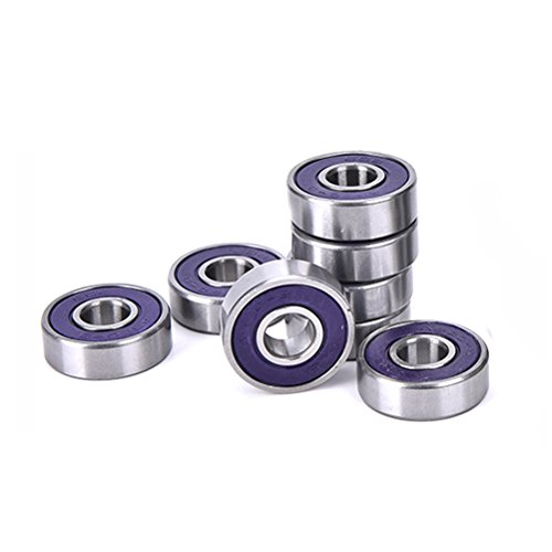 608 Premium Bearings for Skateboard, Rollerblade,ABEC-9,High Precision Rating,High-speed,No Noise ,Pack of (Abec Bearings Ratings)
