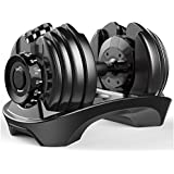 FIT FARM USA Smart Muscle Intelligent Adjustable Space-Saving Dumbells: Home Gym Fitness Weights Quickly Adjust for Optimal M