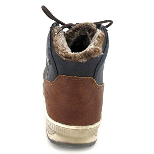 BM Footwear Schnürstiefelette, Farbe: Navy
