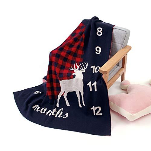 WYILIY 100x80cm Baby Blanket Knitted Elegant Soft Toddler Nursery Crib Throw Blankets Receiving Swaddle Blanket Stroller Cover for Girls Boys