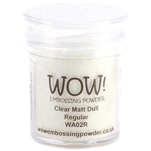 WOW!Goffratura polvere 15ml-Clear Matt opaco Wow Embossing Powder WOW-WA02R