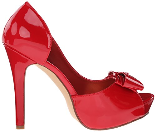 Brevetto Femminile Rosso Brillante Della Pompa Della Piattaforma Di Lumina32 / R Di Fabulicious