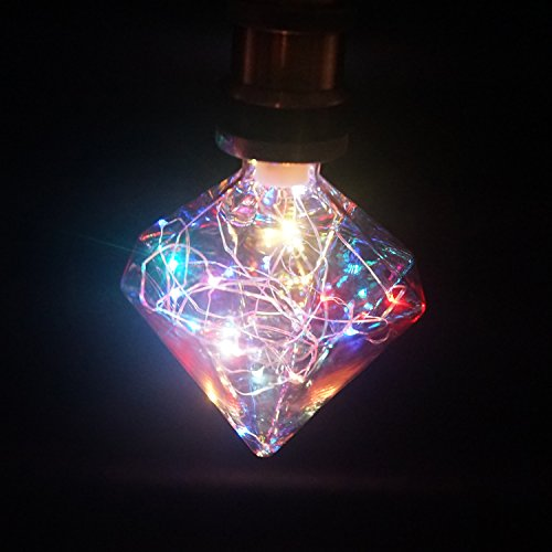 Top Firelighting BDJ120 LED Diamond Shape Holiday Bulb 1W Beautiful and Romantic Starry Decorative LED Starry Bulbs for Holiday Christmas Indoor Party 3W-Multi Color