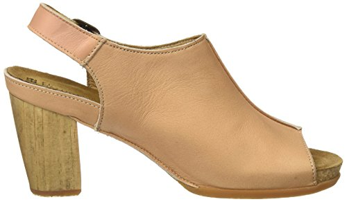 El Naturalista Women's N5022 Open Toe Heels Brown (Nude) OOcYNY